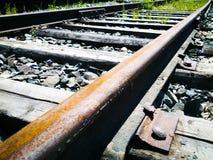 Ferrocarril viejo Foto de archivo libre de regalías