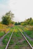 Ferrocarril viejo Imagen de archivo libre de regalías