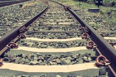 Ferrocarril viejo en Tailandia Fotografía de archivo