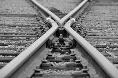 Ferrocarril X foto de archivo libre de regalías