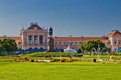 Ferrocarril y parque centrales de Zagreb imágenes de archivo libres de regalías