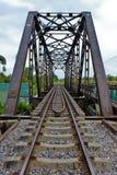 Ferrocarril y puente Imagenes de archivo