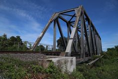Ferrocarril y puente Foto de archivo libre de regalías
