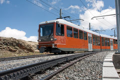 Ferrocarril Zermatt de Gornergrat Imagen de archivo libre de regalías