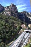 Ferrocarriles de la montaña de Montserrat, España Imagenes de archivo