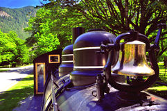 Ferrocarriles escénicos del motor de vapor de las montañas fotografía de archivo libre de regalías