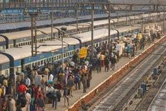 Ferrocarriles indios Fotografía de archivo