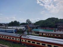 Ferrocarriles indios foto de archivo