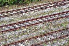 Ferrocarriles industriales Imagen de archivo