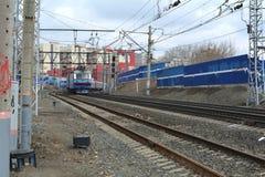 Ferrocarriles rusos (RZD) Imágenes de archivo libres de regalías