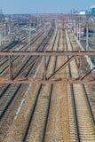 Ferrocarriles y trenes Imagen de archivo libre de regalías