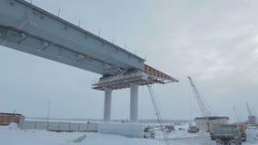 Ferroconcrete Bridge Span in Northern Russia stock video