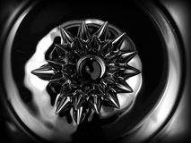 Ferrofluid. Close-up. Abstract object of a ferroflyuid. Close-up Stock Photos