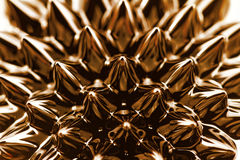 Ferrofluid. Photo of an interesting, colorful chemical ferrofluid Stock Images