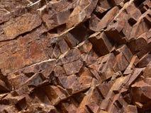 ferroginous δομή πετρών Στοκ Φωτογραφίες