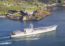 FERROL, ESPAÑA 8 DE FEBRERO: Portaaviones Principe de Asturias Fotos de archivo