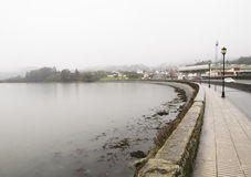 Ferrol estuary in a rainy day Royalty Free Stock Images