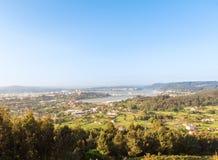 Ferrol från eremitboningen av Chamorro royaltyfri foto