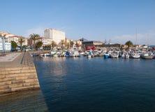 Ferrol pier in a sunny day Stock Photos