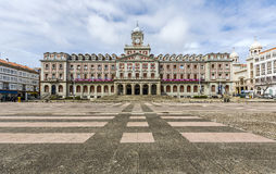 Ferrol Spain, city hall. FERROL, SPAIN - MARCH 28, 2015: View of Ferrol city hall building Ferrol is a town located in Galicia, in the north of Spain. Photo stock image