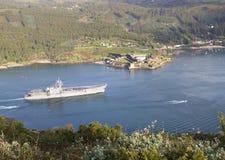 FERROL, SPAIN-FEBRUARY 08: Lotniskowiec Principe de Asturias Zdjęcie Royalty Free