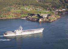 FERROL, SPAIN-FEBRUARY 08: Lotniskowiec Principe de Asturias Fotografia Royalty Free