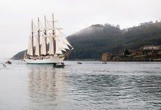 FERROL, SPAIN - FEBRUARY 15: Spanish Navy Juan Sebastian de Elcano Stock Images