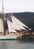 FERROL, SPAIN - FEBRUARY 15: Spanish Navy Juan Sebastian de Elcano Stock Photos