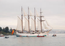 FERROL, SPAIN - FEBRUARY 15: Spanish Navy Juan Se Stock Photo
