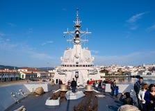 FERROL, SPAIN-FEBRUARY 16: Frigate F-101 Alvaro de Bazan Royalty Free Stock Image