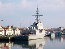 FERROL, SPAIN-FEBRUARY 16: Frigate F-103 Stock Image