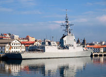 FERROL, SPAIN-FEBRUARY 16: Frigate F-103 Stock Photo