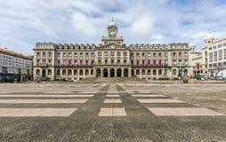 Ferrol Spanien, stadshus Fotografering för Bildbyråer