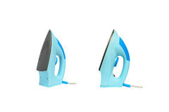 Ferros azuis disparados em um fundo branco Imagem de Stock Royalty Free
