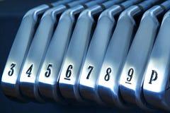 Ferros do golfe fotos de stock