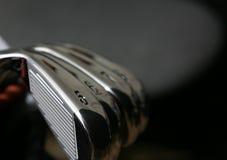 Ferros do golfe fotografia de stock