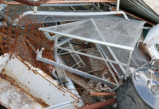 ferrous material deposit in a landfill Stock Photos
