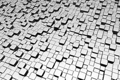 Ferrous metal cubes Stock Image