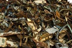 Ferrous scrap blue stock images