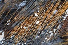 Ferrous scrap metal. Industrial garbage, image of a Royalty Free Stock Photography