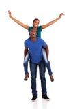 Ferroutage africain de couples Photographie stock libre de droits