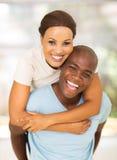 Ferroutage de couples d'afro-américain Image stock