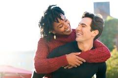 Ferroutage de couples extérieur Photos libres de droits