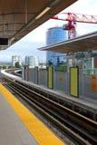 Ferrovías y estación ligeras en Richmond A.C. Imagen de archivo