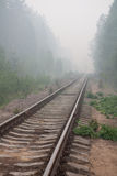 Ferrovia abbandonata Fotografie Stock