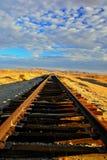 Ferrovia abbandonata del deserto fotografia stock