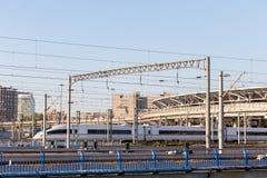 Ferrovia ad alta velocità Fotografia Stock