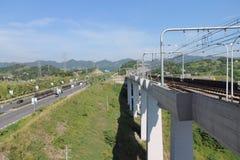 Ferrovia ad alta velocità Immagine Stock
