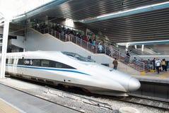 Ferrovia ad alta velocità delle Cine Fotografie Stock Libere da Diritti