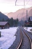 Ferrovia in alpi Fotografie Stock
